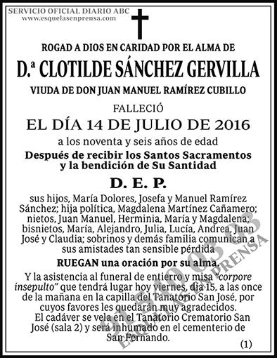 Clotilde Sánchez Gervilla